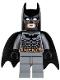 Minifig No: bat024  Name: Batman, Dark Bluish Gray Suit with Black Mask