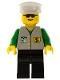 Minifig No: bnk003  Name: Bank - Black Legs, White Hat, Sunglasses