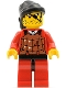 Minifig No: cas052  Name: Ninja - Robber, Brown