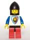 Minifig No: cas061  Name: Royal Knights - Knight 1, Black Chin-Guard, no Quiver