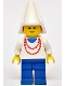 Minifig No: cas096  Name: Maiden with Necklace - Blue Legs, White Cone Hat