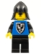 Minifig No: cas101a  Name: Black Falcon - Black Legs, Black Neck-Protector, Shield Bottom Round (Vintage)