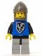 Minifig No: cas102  Name: Black Falcon - Light Gray Legs with Black Hips, Dark Gray Chin-Guard