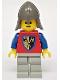 Minifig No: cas109  Name: Crusader Axe - Light Gray Legs, Dark Gray Neck-Protector