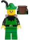 Minifig No: cas131a  Name: Forestman - Black, Green Hat, Black Feather, D-Basket