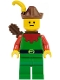 Minifig No: cas140a  Name: Forestman - Red, Brown Hat, Yellow Feather, Quiver