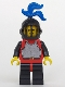 Minifig No: cas194  Name: Breastplate - Red with Black Arms, Black Legs with Red Hips, Black Grille Helmet, Blue Plume
