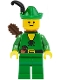 Minifig No: cas240a  Name: Forestman - Pouch, Green Hat, Black Feather, Quiver