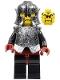 Minifig No: cas271  Name: Knights Kingdom II - Shadow Knight, Speckle Black-Silver Armor and Helmet