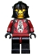 Minifig No: cas283  Name: Knights Kingdom II - Shadow Knight, Adventurer Head (Chess Pawn)