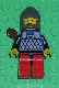 Minifig No: cas287  Name: Scale Mail - Blue, Red Legs with Black Hips, Dark Gray Chin-Guard, Quiver