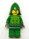 Minifig No: cas324  Name: Knights Kingdom II - Rascus without Armor, Printed Torso, Green Neck-Protector