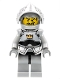 Minifig No: cas350  Name: Fantasy Era - Crown Knight Plain with Breastplate, Helmet with Visor, Curly Eyebrows and Goatee, Black Hips, Light Bluish Gray Legs