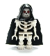 Minifig No: cas378  Name: Fantasy Era - Skeleton Warrior 6, White, Black Hood and Cape