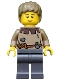 Minifig No: cas410  Name: Fantasy Era - Peasant Male Young, Brown Eyebrows, Thin Grin