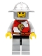 Minifig No: cas446  Name: Kingdoms - Lion Knight Quarters, Helmet with Broad Brim, Vertical Cheek Lines