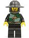 Minifig No: cas456  Name: Kingdoms - Dragon Knight Quarters, Helmet with Broad Brim, Moustache and Stubble