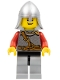 Minifig No: cas460  Name: Kingdoms - Lion Knight Scale Mail with Chest Strap and Belt, Helmet with Neck Protector, Open Grin
