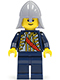 Minifig No: cas479  Name: Red Sash, Light Bluish Gray Neck Protector (9349)