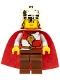 Minifig No: cas482a  Name: Kingdoms - Lion King Quarters, Black Eyebrows
