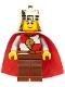 Minifig No: cas482b  Name: Kingdoms - Lion King Quarters, Reddish Brown Eyebrows