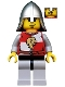 Minifig No: cas502  Name: Kingdoms - Lion Knight Quarters, Helmet with Neck Protector, Eyebrows and Goatee