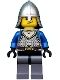 Minifig No: cas536  Name: Castle - King's Knight Scale Mail, Crown Belt, Helmet with Neck Protector, Smirk