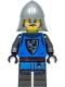 Minifig No: cas554  Name: Black Falcon - Castle Guard Male, Flat Silver Neck-Protector