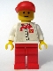 Minifig No: chef015s  Name: Chef - White Torso with 4 Buttons and McDonald's Logo (Sticker), Red Legs, Red Cap