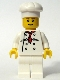 Minifig No: chef017  Name: Chef - White Torso with 8 Buttons, White Legs