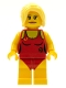 Minifig No: col024  Name: Lifeguard, Female - Minifigure only Entry