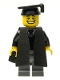 Minifig No: col065  Name: Graduate - Minifigure only Entry