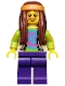 Minifig No: col107  Name: Hippie - Minifigure only Entry