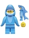 Minifig No: col240  Name: Shark Suit Guy - Minifigure only Entry