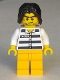 Minifig No: col276  Name: Police - Jail Prisoner 50380 Prison Stripes, Tousled Hair
