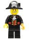 Minifig No: col281  Name: Pirate Captain, Black Vest