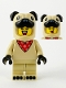 Minifig No: col378  Name: Pug Costume Guy - Minifigure Only Entry