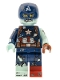 Minifig No: colmar09  Name: Zombie Captain America - Minifigure Only Entry