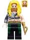 Minifig No: colsh03  Name: Aquaman, Long Yellow Hair, Hook Hand
