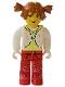 Minifig No: cre005  Name: Tina, White Torso and Red Legs