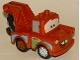 Minifig No: crs026  Name: Duplo Tow Mater - Dark Orange Hook Base, Dark Orange and Light Bluish Gray Wheels