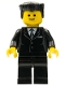 Minifig No: cty0038  Name: Suit Black, Black Flat Top Hair, Standard Grin