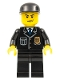 Minifig No: cty0067  Name: Police - City Suit with Blue Tie and Badge, Black Legs, Black Cap