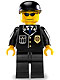 Minifig No: cty0106  Name: Police - City Suit with Blue Tie and Badge, Black Legs, Sunglasses, Black Cap