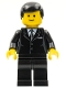 Minifig No: cty0107  Name: Suit Black, Black Male Hair, Standard Grin
