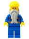 Minifig No: cty0123a  Name: Blue Jacket with Pockets and Orange Stripes, Blue Legs, Beard, Yellow Construction Helmet, Black Eyebrows
