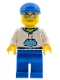 Minifig No: cty0234  Name: White Hoodie with Blue Pockets, Blue Legs, Blue Short Bill Cap