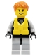 Minifig No: cty0250a  Name: Jet Skier Male, Life Jacket Center Buckle