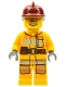 Minifig No: cty0338  Name: Fire - Bright Light Orange Fire Suit with Utility Belt, Dark Red Fire Helmet, Orange Sunglasses