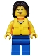 Minifig No: cty0416  Name: Coast Guard City - Dinghy Passenger Female